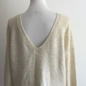 A&F V Back  Sweater Small
